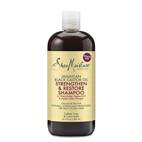 Shea Moisture Jam black Castor Grow und Restore Shampoo, 1er Pack (1 x 482 ml)