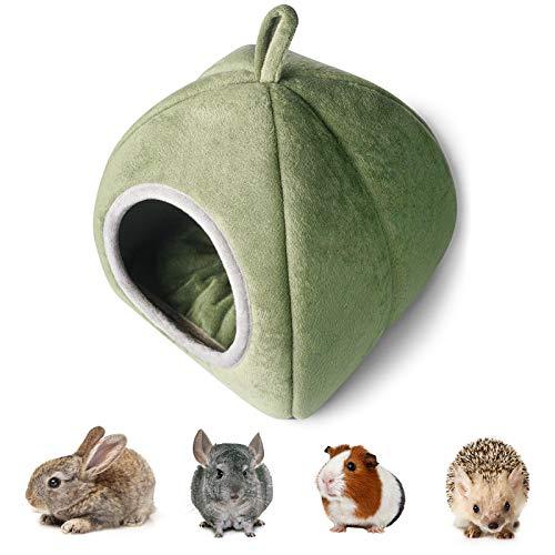 YUNXANIW Meerschweinchen Haus, Kaninchen Zubehoer, Kleintier Haus für Meerschweinchen, Hamster, Chinchillas, Frettchen, Kaninchen und andere Kleintiere mit einem Gewicht von weniger als 1,2 kg, Grüner