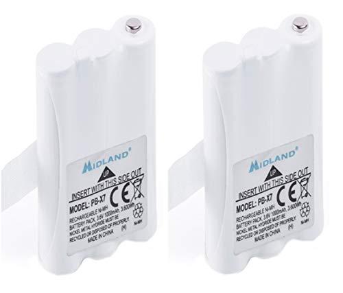 Midland C1301 PB-X7 - Batería de Ni-Mh para radio XT70 (1000 mAh, 2 unidades)