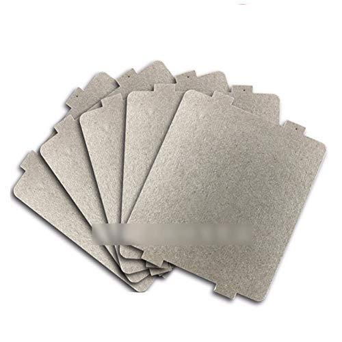 6pcs 9.9cm * 10.8cmcm Ersatzteile Eindickung Mica Platten Mikrowellen-Ofen Blätter for Galanz for Midea for Panasonic for LG Etc Magnetron Cap