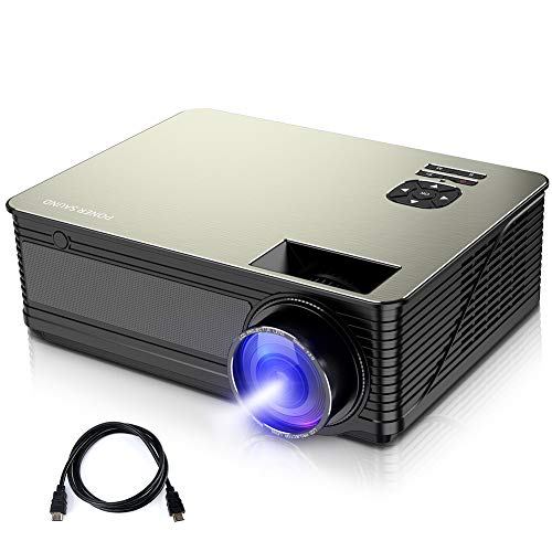 Projector, 1080P Supported Mini Projector 5500 Lux with 52,000 Hrs, 220 inch Home Theater Movie Projector, Native 720P Projector Compatible with Ipad, HDMI, VGA, TF, USB, Chromecast