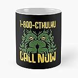 Lovecraft Mythos Monster Cthulhu Parody Chant Game Meme Best Mug holds hand 11oz made from White marble ceramic