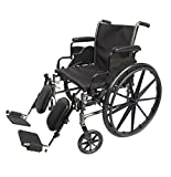 Med-Elite Deluxe Wheelchairs - Elevating Leg Rests - Desk-Length Arm Rests - Padded Nylon Seat (18' Seat)