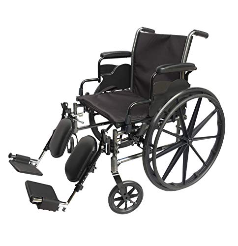 Med-Elite Deluxe Wheelchairs - Elevating Leg Rests - Desk-Length Arm Rests - Padded Nylon Seat (20