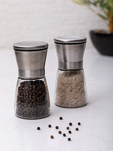 GOODHOMES Salt n Pepper Grinder Set with Contents (Set of 2 pcs)