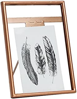 NIKKY HOME Vintage Metal Photo Frame for 5 x 7 Inch Photos, Gold