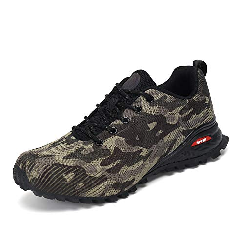Dannto Men's Trail Running Shoes Outdoor Hiking Sneakers Lightweight Non Slip for Walking Fashion Camping Trekking Camouflage Size 12