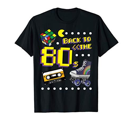 80er Jahre Motto Party Back to the 80s Kostüm Verkleidung T-Shirt