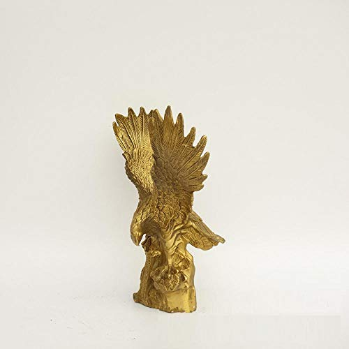 Adornos Esculturas Arte Escultura Estatua Águila Animal Dapeng alas desplegar en bronce cobre dorado artesanía decoración del hogar Tiendas Colección Feng Shui