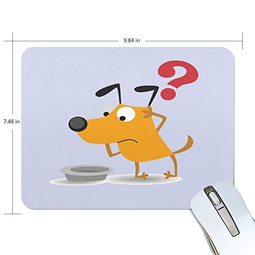 Basics Gaming Mauspad Hund mit Fragezeichen Muster Mauspad Gaming Mauspad Computer Tastatur Mauspad 9.84 x 7.84 x 0.2 in