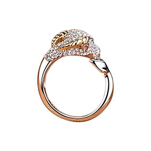 Scpink Dodici Sternzeichen Mond Inlay Diamant Kristall offene Hochzeit Ornament Weihnachten für Mädchen Come mostrato Bestiame