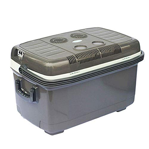 Frigorifero per Auto da 45 l Mini congelatore Portatile a casa per Auto a Doppio Uso 12v / 220v Frigorifero da Pesca e scaldavivande - Grigio