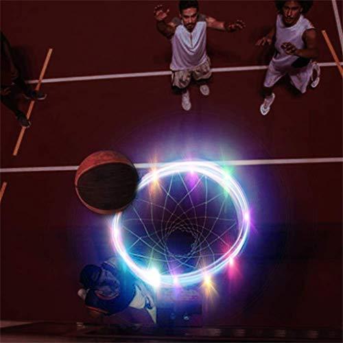 SPLLEADER Basketball Angeführt Basketballkorb-Licht-Lampe Schießt Hoops Solarlicht Spiele In Der Nacht Führte Streifen-Lampe Basketball Rim-Nachtlicht