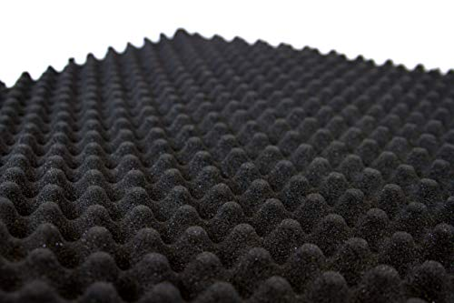 0,5 m x 2 m 30 mm graue Eierkasten-Schaumstoff-Profil Flammenhemmend offene Zell-Isolierung Schallschutz