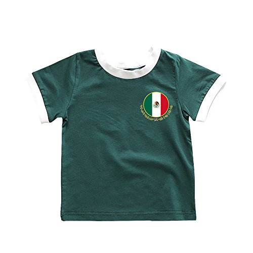 Toddler Mexico Soccer T-Shirt 2018 Chicharito #14 Jersey for Baby Kids Green