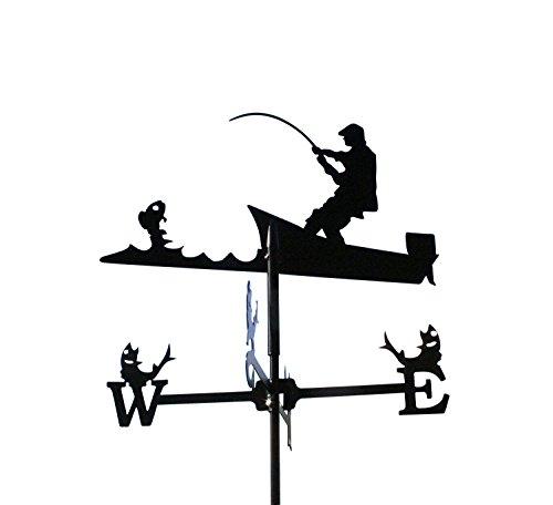 SvenskaV Wetterfahne Angler klein in schwarz