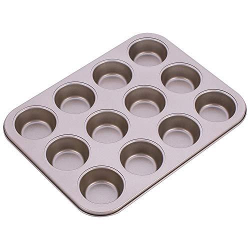 Muffinform Für 12 Muffins, Antihaft Muffinblech Backform, Antihaftbeschichtet Kurze Backzeit Für Süße Und Herzhafte Handlungen, Backblech Backform Für Cupcakes, Brownies, Kuchen