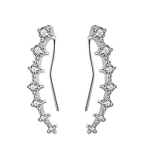 Pendientes de diamantes Pendientes Pendientes románticos De hadas pendientes de estilo Encantador pendientes Pendientes de acero inoxidable