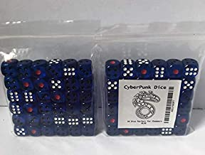 Shadowrun dice - 6th Edition & 5th Edition - RPG dice d6 Set - 36 12mm dice - Blue Color