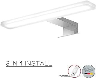 Cywer llevó la luz del espejo   Aufbauleuechte   Clip de luz   Luz de baño   Luz de maquillaje   Mueble de baño con luz blanco cálido   30cm   IP44   8w   800lm   230V