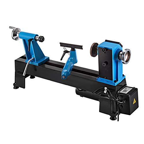VEVOR Wood Lathe 550W Digital Readout Woodturning 10x18inch Variable Speed 500-3800 RPM Benchtop Lathe MT2 Woodworking DIY Lathe for Cutting, Engraving, Milling, Grinding, Polishing, Drilling