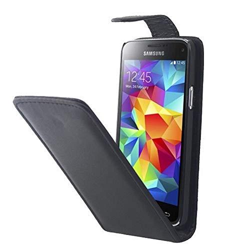 ZAORUN Cubiertas Protectoras de Cellphone Funda de Cuero dePUde Flip Vertical Compatible for Samsung Galaxy S5 Mini