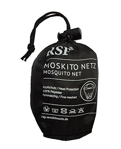 RSP Moskitonetz das Original (Kopfnetz Schwarz) Moskito Kopfschutz