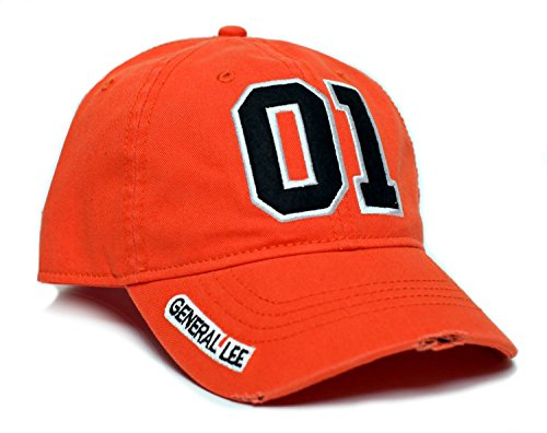 General Lee 01 Good Ol' Boy Unisex-Adult Applique Embroidered Hat -One-Size Orange