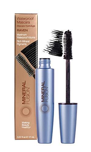 Mineral Fusion Waterproof Mascara, (Packaging May Vary), Raven, 0.57 Oz