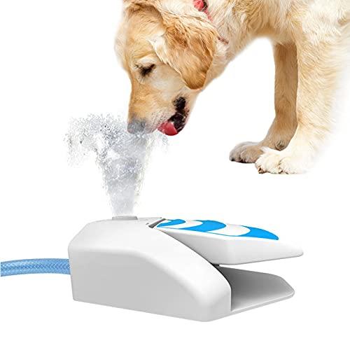waysad Hund Trinkbrunnen Wasserfontäne für Hunde Hunde Trinkbrunnen Haustier Wasserfontäne Splashy Fußpedal Betrieben Spender Spray Bewässerer