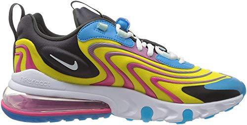 Nike Air MAX 270 React Eng, Zapatillas para Correr Hombre, Laser Blue White Anthracite Watermelon, 45.5 EU