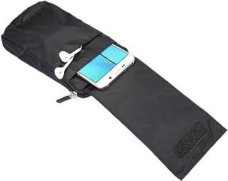 DFV mobile - حقيبة محفظة ذات شرائط متعددة الوظائف مع سحاب إغلاق حلقة لINFINIX ZERO 8i (2020) - أسود XXM (18 × 10 سم)