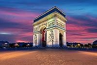 ERZAN風景知育puzzleシャンゼリゼ通りの凱旋門パリフランス有名なランドマーク日没ジグソーパズル1000ピース