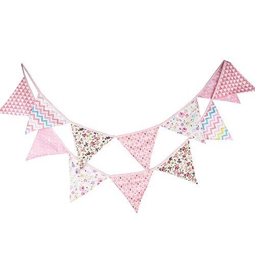 Demarkt Wimpel slinger, schattige kleurrijke vlaggetjes, kleurrijke vlaggetjes, stoffen slinger, verjaardag, party, decoratie