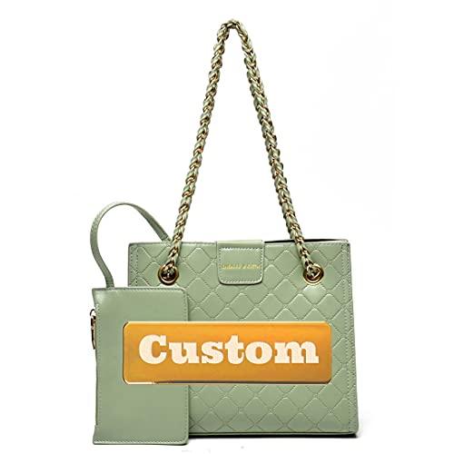Nome personalizzato Borsa da donna Borsa da donna con cinturino con cinturino con cinturino con cinturino (Color : Green, Size : One size)