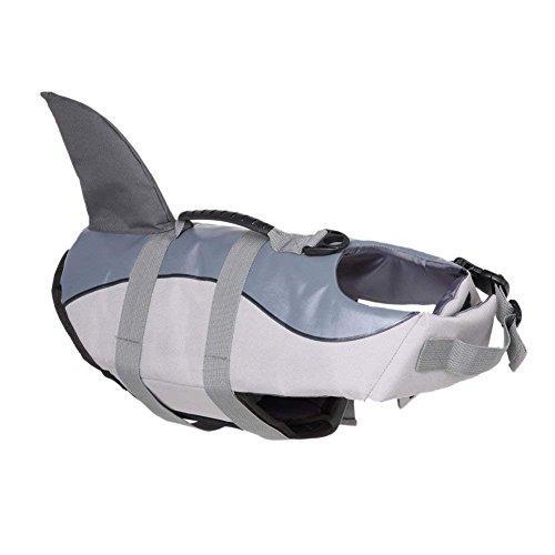 JF Hund Schwimmweste Pet Floatation Weste, Hunde Schwimmen Weste, Meerjungfrau/Shark Design Pet Life Saver Sicherheit Badeanzug Erhalter XS/S/M/L/XL Erhältlich für Pool, Strand, Bootfahren