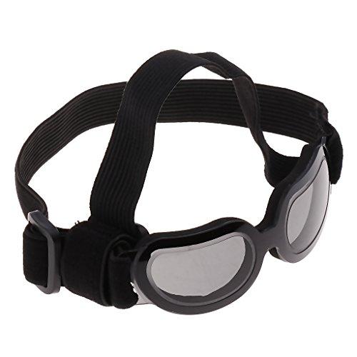 joyMerit Effektiver Schutz Einstellbare Anti Wind Brille Mode Haustier Hund Augenschutz UV Sonnenbrille - Schwarz
