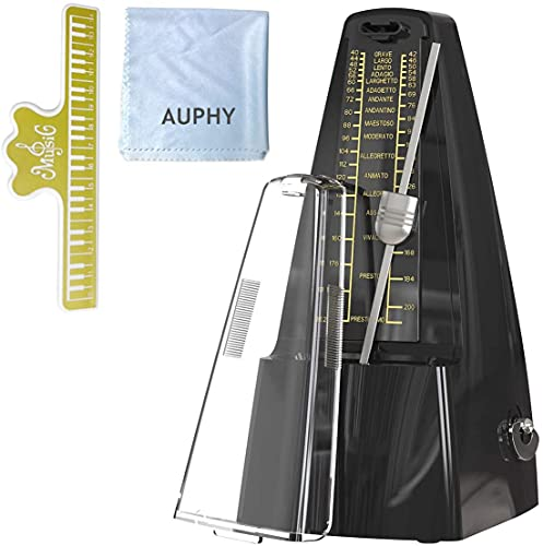 Metronome Mechanical for Piano Drum Violin Guitar,AUPHY(Black)