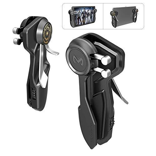 PUBG Controller für Tablet – Mzpre 4 Triggers [6-Fingerbedienung] Sensitive Shoot Aim Trigger Gamepad Grip, Unterstützung 10-12,9 Zoll iPad & Tablet (Dicke < 10 mm), schwarz