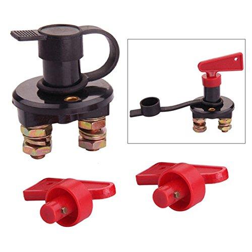 Bigpea Batterietrennschalter trennen Schnitt AUS Strom-Kill-Schalter Fuer Marine Auto Boot RV ATV Fahrzeuge mit 2 Schluesseln (Typ I 1 Stueck)