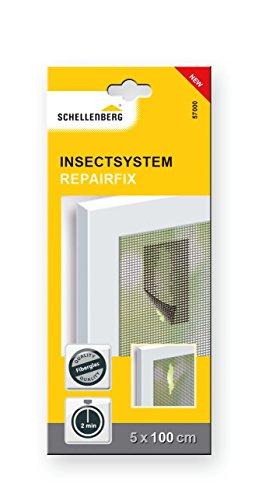 Schellenberg 57000 Fliegengitter Reparatur-Klebeband – 5 cm x 100 cm Fiberglas-Pflaster, Fliegengitter reparieren