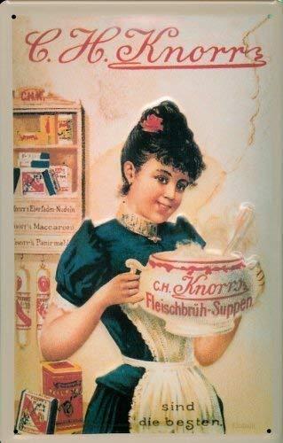 Knorr Fleischbrüh - soepen blikken bord bord metaal tin sign 20 x 30 cm
