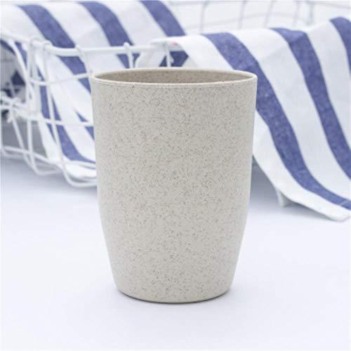 Unbekannt Nordic Style Kunststoff Teetassen Umweltfreundliche Weizenstroh Tasse Kaffee Tee Milch Getränk Tasse Zahnbürste Tasse für zu Hause Badezimmer, Beige