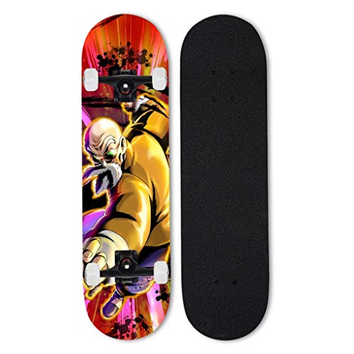 Valhalla Skateboards Longboards Professionelle Cruiser Anfänger Vierrädrige Doppel Tritt kompletter Anime Skateboard Dragon Ball Serie Schildkröte Fee 31 Zoll