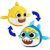 WowWee Baby Shark's Big Show! Reversible Plush Baby Shark Turns Into Super Shark – Flip Plushie Toys for Toddlers