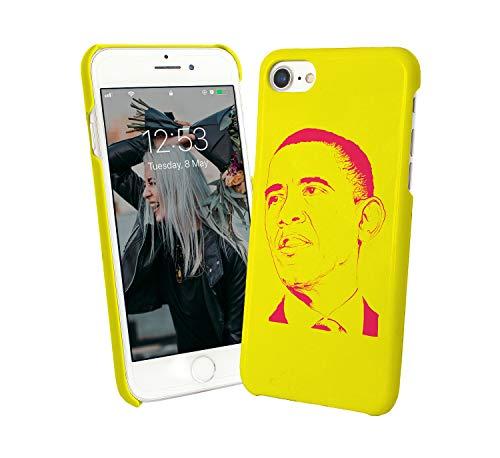 Barack Obama Print USA_003164 - Carcasa rígida para iPhone 6, 7, 8 x Galaxy S8 Note 8, diseño de regalo divertido de Navidad