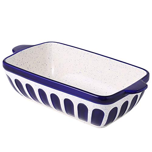Loaf Pan Ceramic Bread Baking Pan Toast Pan Baking Dish Bakeware for Baker Christmas Day Dinner Serving Dish -Dark Blue