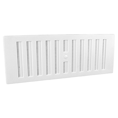 9 x 3 White Plastic Adjustable Air Vent Grille With Flyscreen Cover by SmartHome