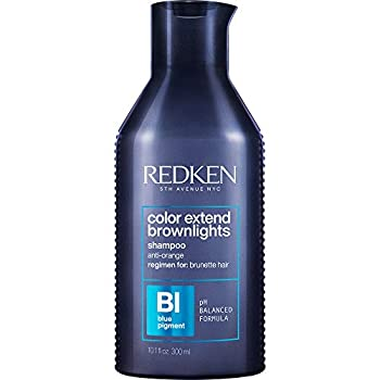 Redken Color Extend Brownlights Blue Toning Shampoo | For Natural & Color-Treated Brunettes | Neutralizes Brass In Brown Hair | Sulfate-Free | 10.1 Fl Oz 10.1 fl oz