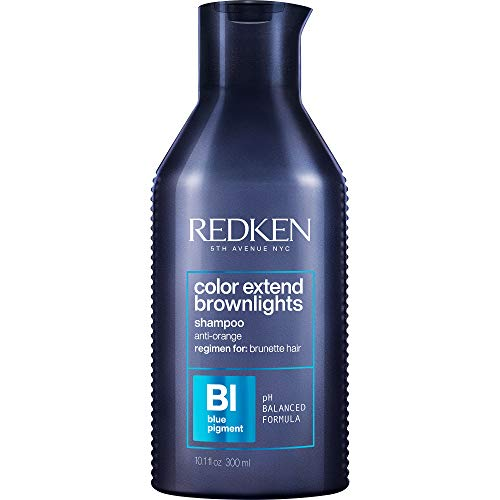 Redken Color Extend Brownlights Blue Toning Shampoo   For Natural & Color-Treated Brunettes   Neutralizes Brass In Brown Hair   Sulfate-Free   10.1 Fl Oz, 10.1 fl. oz